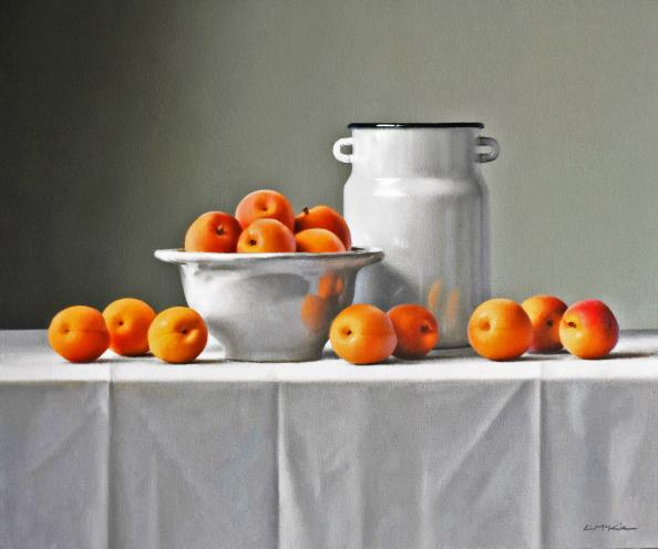 Portuguese Bowl with Apricots by Lucy McKie