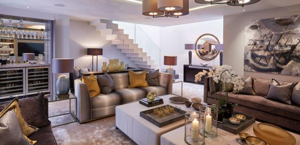Family room at the Wilton Street house by Residence One