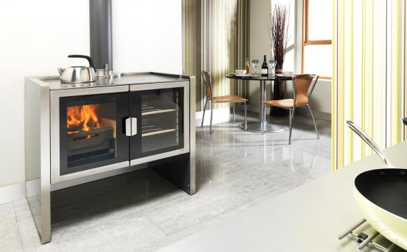 Wood burning Firebelly Razen cookstove is made in the UK