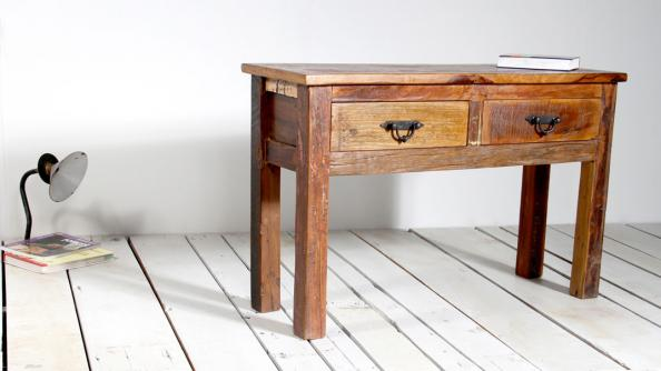 Console Table From Little Tree Furnitureu0027s New Rustica Collection, Made From  Reclaimed Wood From India