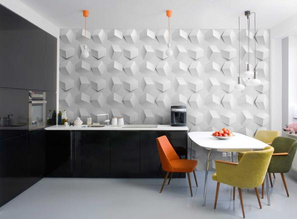 Wall tiles made from recycled paper by US' MioCulture, £32 for 12 tiles, plus shipping