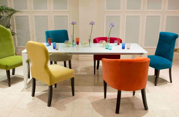 Funky dining room chairs uk for Funky fabric dining chairs