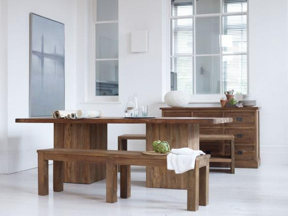 Megan table and bench by Raft