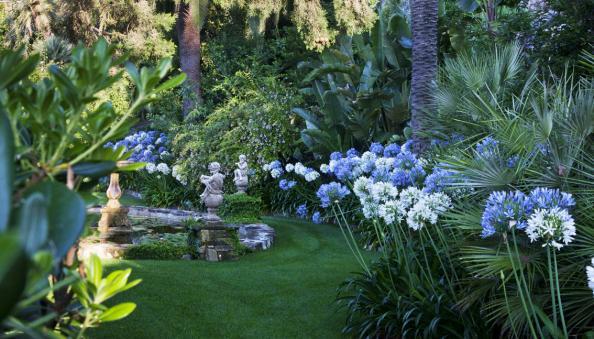 Gardens Of Villa Della Pergola At Alassio