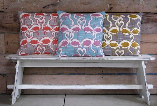 Linen cushions by Rapture & Wright