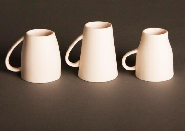 Dyslexia ceramic mugs by Henry Franks of Northumbria University