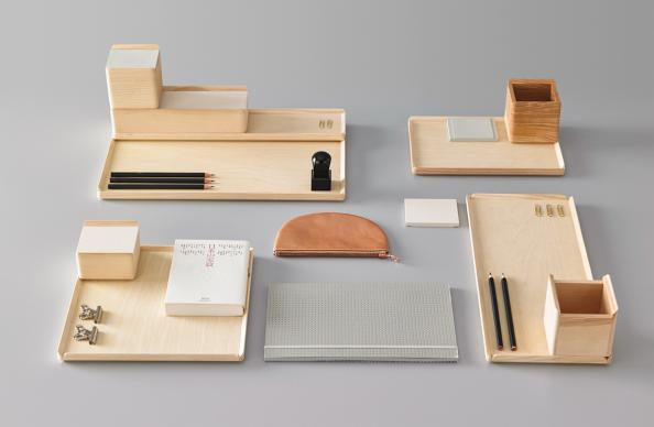 Keep your desk tidy with Mad Lab storage boxes and pen holders