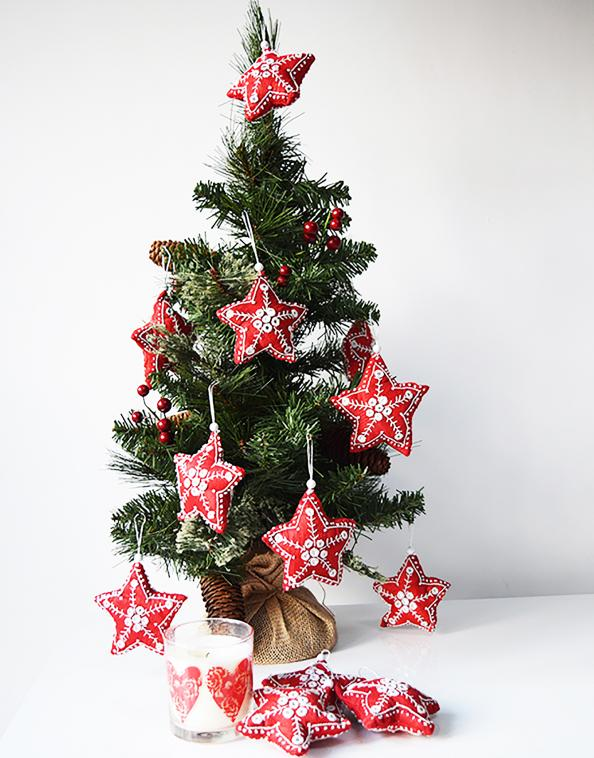 Fully Decorated Christmas Tree Decoration Kit.Eco Friendly Christmas Decorations Deco Inspiration For