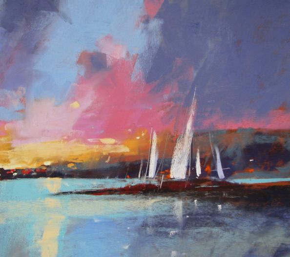River Sunset by Tony Allain