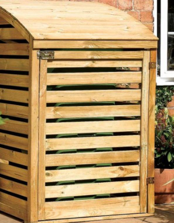 FSC-timber single slatted bin enclosure form Bu0026Q £97. .diy · Double willow wheelie bin screen ... & Smarten up your outside space with a wheelie bin enclosure | Deco ...