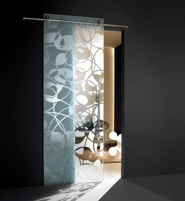 Etched glass door from Casali's Natura Collection. www.casali.net