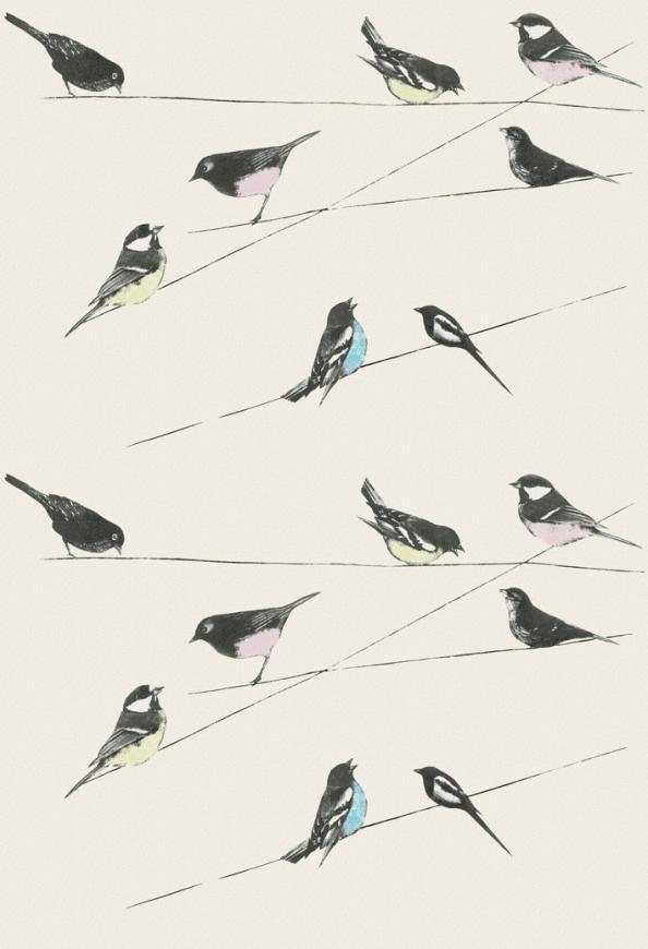 Garden Birds In Stone Colourway