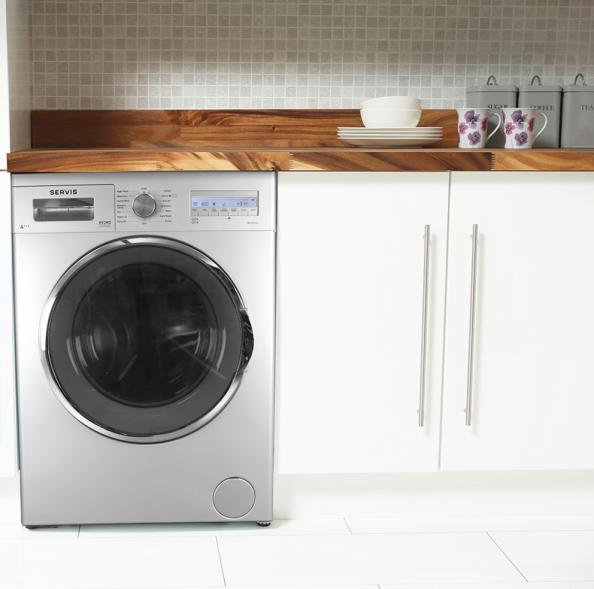 Washing Machine With Dryer Uk Part - 34: Servis W814FLHD A+++ Washing Machine Has A 12-min Quick Wash And 1400rpm  Spin.
