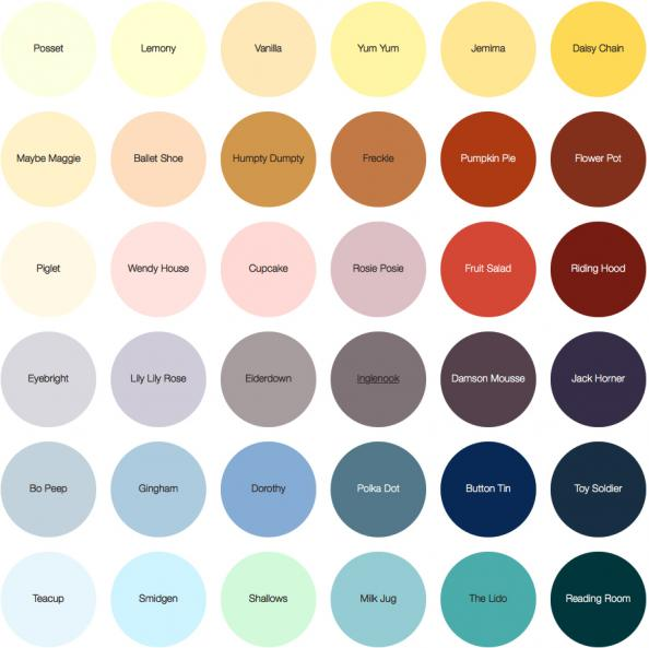 B Q Crown Paint Colour Chart