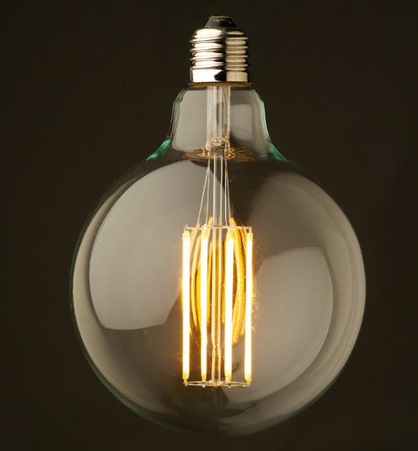 Globe LED filament bulb from Edison Light Globes. Prices from around £20.