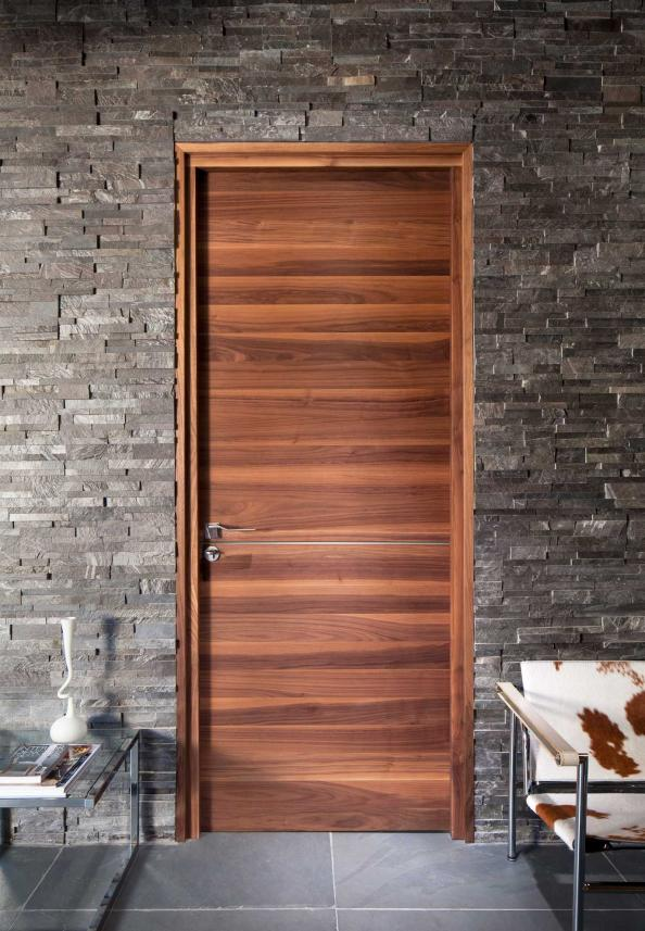 Contemporary horizontal grain black walnut veneer Raw from Urban Front & Are you bored with your doors? | Deco - inspiration for eco friendly ...