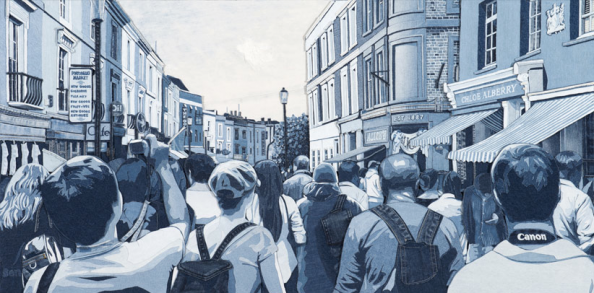 Saturday Portobello by Ian Berry, Denim on Denim, 122x61cms