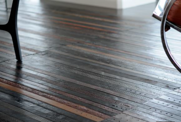 Ting London turns old leather belts into gorgeous flooring