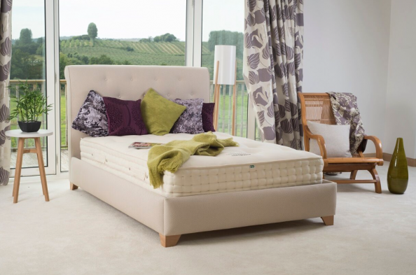 Handmade Dartmouth mattress from Cottonsafe Natural Mattress in Devon uses no FR chemicals
