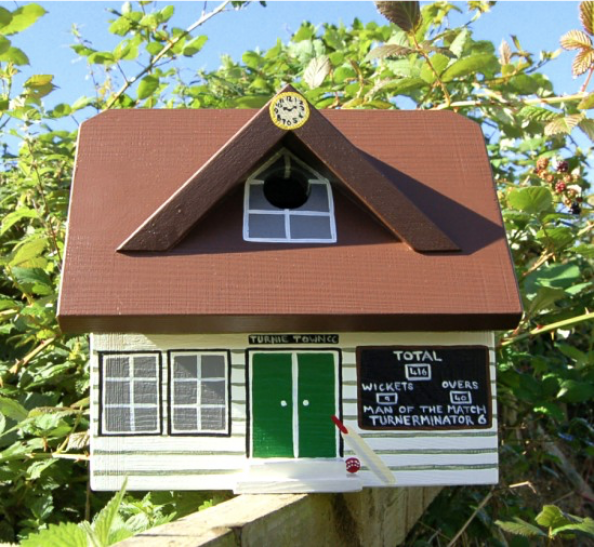 Cricket Pavilion wooden birdhouse by Lindleywood, £59