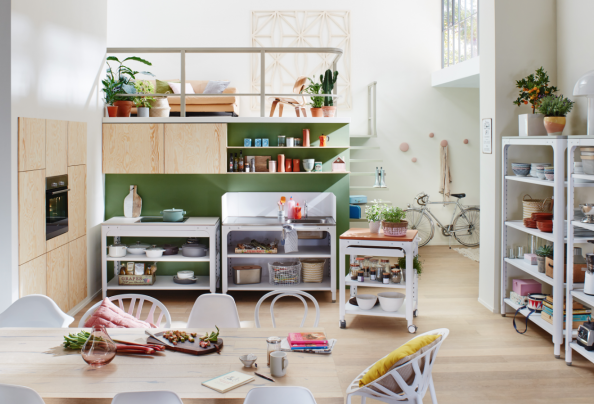 Concept kitchen by German brand Naber is easy to assemble and disassemble without tools