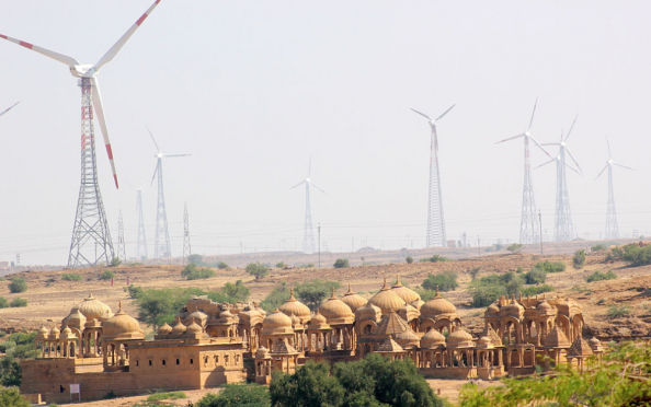 Wind turbines in Rajasthan