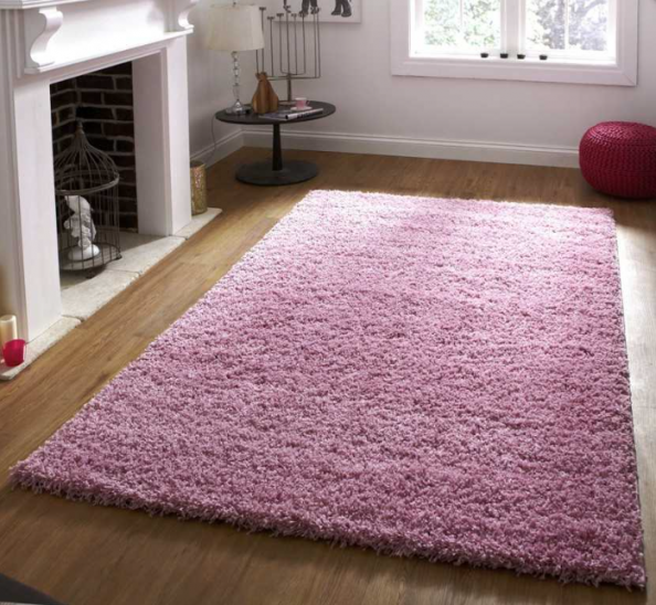 Pink rug from Modern Rugs