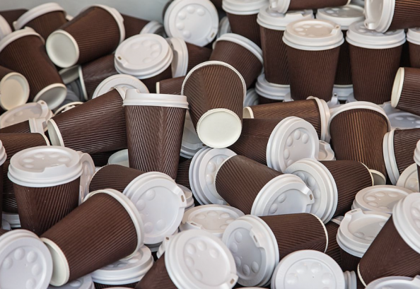 The paper cup mountain must be tackled