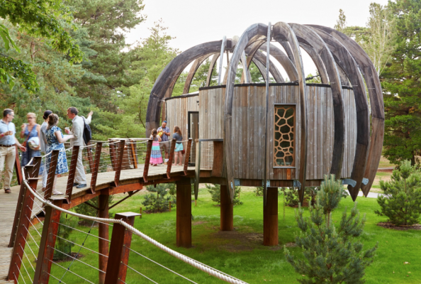 Acoustic treehouse donated in summer 2017 by Quietmark to Kew Gardens
