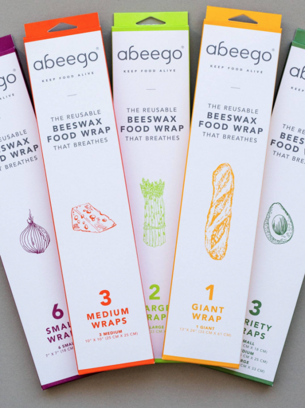 abeego wraps. Set of six small wraps £15. Find at green pioneer.co.uk