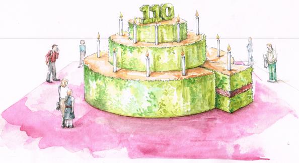 cake is designed by gardener David Domoney