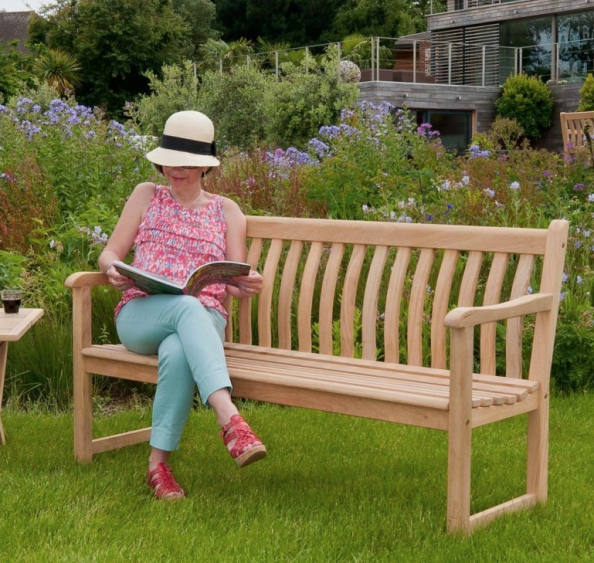 Alexander Rose wood bench from The Garden Furniture & Interiors Co
