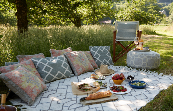 Tangier range from Weaver Green is made from recycled PET plastic