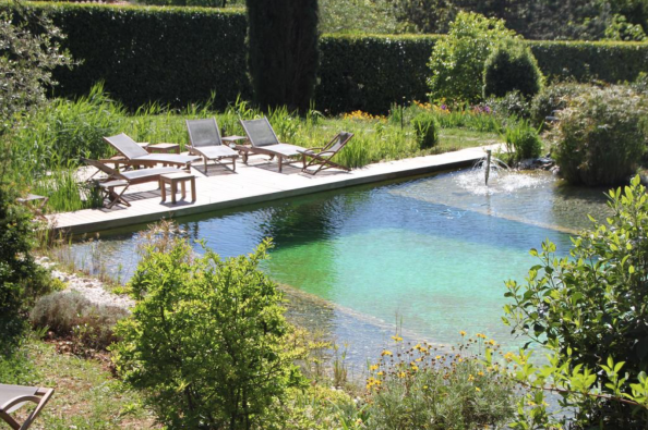 A natural pool is chlorine free