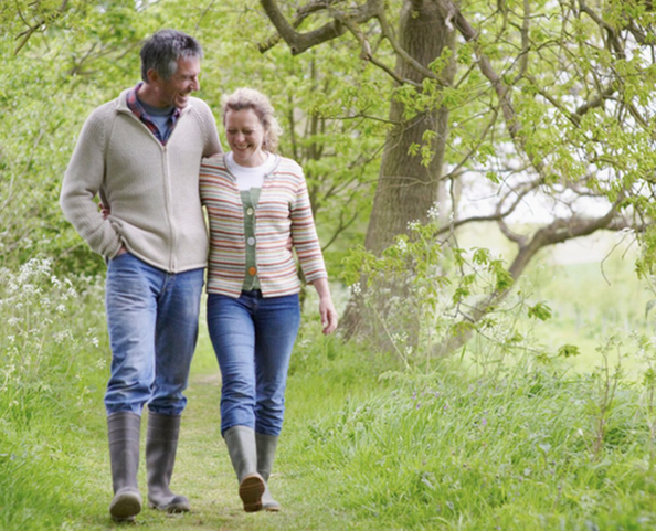 Enjoy country walks with a loved one