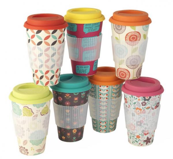 You'll find myriad designs on bamboo cups