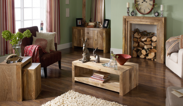 Trade Furniture Company sells reclaimed wood furniture with elegance